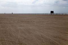 Spiaggia del deserto alla villa Gesell Fotografia Stock Libera da Diritti