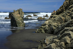 "spiaggia del  di Quebrantos†del ""The in San Juan de la Arena Fotografia Stock"