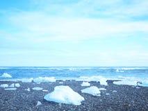 Spiaggia del diamante in Islanda Immagine Stock Libera da Diritti