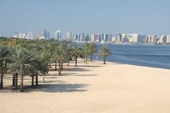 Spiaggia del Dubai Creek Fotografia Stock Libera da Diritti