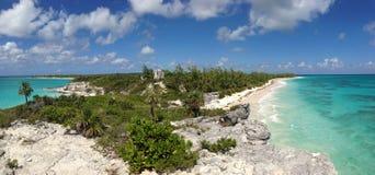Spiaggia del faro, Eleuthera, Bahamas Immagine Stock