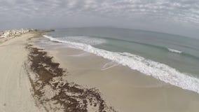Spiaggia del figlio Sera de Marina - volo aereo, Mallorca video d archivio