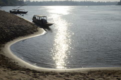 Spiaggia del fiume di Mekhong fotografie stock libere da diritti