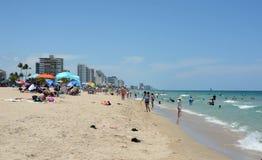 Spiaggia del Fort Lauderdale, Florida Fotografia Stock
