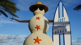 Spiaggia del Fort Lauderdale in Florida Fotografie Stock Libere da Diritti