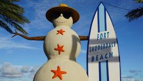 Spiaggia del Fort Lauderdale in Florida Immagini Stock