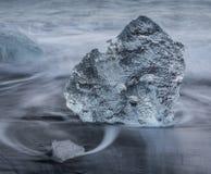Spiaggia del ghiaccio, Islanda Immagini Stock