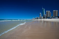 Spiaggia del Gold Coast immagine stock