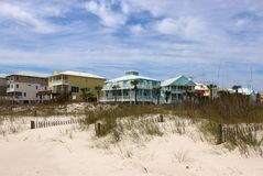 Spiaggia del golfo del Messico dell'Alabama Immagine Stock