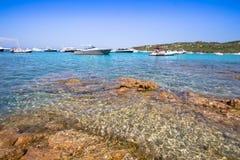 Spiaggia del Grande Pevero,撒丁岛,意大利 免版税图库摄影