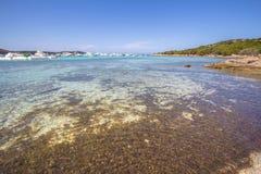 Spiaggia del Grande Pevero,撒丁岛,意大利 库存照片