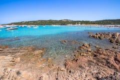 Spiaggia del Grande Pevero, Sardinia, Italy. Spiaggia del Grande Pevero on famous Costa Smeralda, Sardinia, Italy Royalty Free Stock Photo