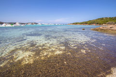 Spiaggia del Grande Pevero, Sardinia, Italy. Spiaggia del Grande Pevero on famous Costa Smeralda, Sardinia, Italy Stock Photos