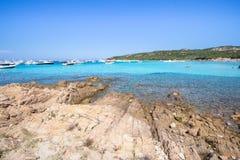Spiaggia del Grande Pevero, Sardinia, Italy. Spiaggia del Grande Pevero on famous Costa Smeralda, Sardinia, Italy Royalty Free Stock Photos