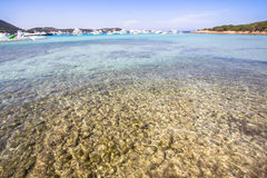 Spiaggia del Grande Pevero, Sardinia, Italy. Spiaggia del Grande Pevero on famous Costa Smeralda, Sardinia, Italy Royalty Free Stock Image