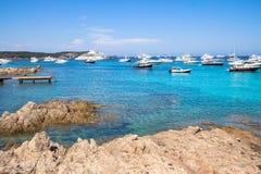 Spiaggia del Grande Pevero, Sardinia, Italy. Spiaggia del Grande Pevero on famous Costa Smeralda, Sardinia, Italy Stock Image