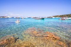 Spiaggia Del Grande Pevero, Sardinia, Włochy zdjęcia stock