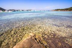 Spiaggia Del Grande Pevero, Sardinia, Włochy Zdjęcie Royalty Free