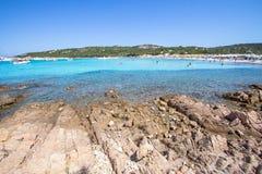 Spiaggia del Grandioso Pevero, Sardinia, Itália Fotografia de Stock