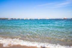 Spiaggia del Grandioso Pevero, Sardinia, Itália Imagens de Stock Royalty Free