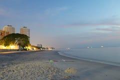 Spiaggia del Hua Hin Fotografia Stock