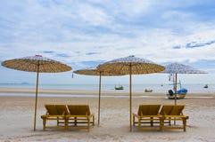 Spiaggia del Hua Hin, Tailandia Immagine Stock