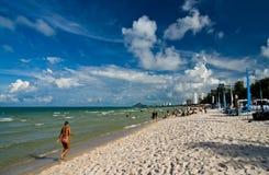 Spiaggia del Hua Hin, Tailandia. Fotografia Stock Libera da Diritti