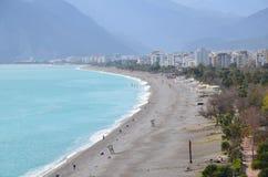 Spiaggia del konyaaltı di Adalia Immagine Stock
