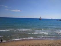 Spiaggia del lato della Turchia Adalia Manavgat Fotografia Stock Libera da Diritti
