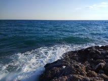 Spiaggia del lato della Turchia Adalia Manavgat Fotografie Stock