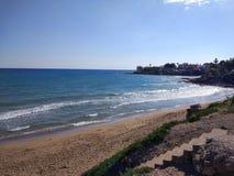 Spiaggia del lato della Turchia Adalia Manavgat Fotografia Stock