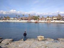 Spiaggia del lato di Adalia Fotografie Stock