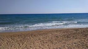 Spiaggia del lato di Adalia Manavgat stock footage