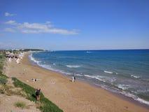 Spiaggia del lato di Adalia Manavgat Fotografie Stock Libere da Diritti