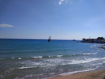 Spiaggia del lato di Adalia Manavgat Fotografia Stock