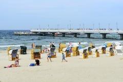 Spiaggia del Mar Baltico Immagini Stock