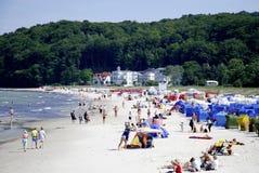 Spiaggia del Mar Baltico sul Ruegen in Germania Immagini Stock