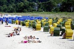 Spiaggia del Mar Baltico sul Ruegen in Germania Fotografia Stock