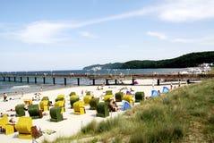 Spiaggia del Mar Baltico sul Ruegen in Germania Fotografie Stock Libere da Diritti