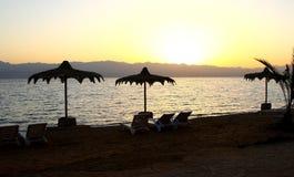 Spiaggia del Mar Rosso Fotografia Stock Libera da Diritti