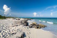 Spiaggia del mare caraibico nel Messico Fotografia Stock Libera da Diritti