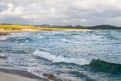 Spiaggia del Mare del Nord in Norvegia Fotografia Stock Libera da Diritti
