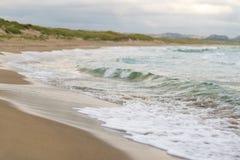 Spiaggia del Mare del Nord in Norvegia Fotografie Stock Libere da Diritti