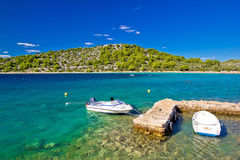 Spiaggia del mare del turchese della laguna di Lucica Immagini Stock Libere da Diritti