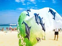 Spiaggia del mare delle Andamane nell'isola di PhiPhi Immagini Stock Libere da Diritti