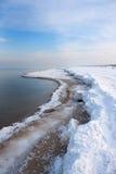 Spiaggia del mare in inverno Fotografia Stock Libera da Diritti