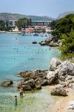 Spiaggia del mare in Mlini Fotografie Stock Libere da Diritti