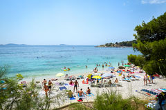 Spiaggia del mare in Mlini Fotografia Stock Libera da Diritti