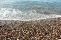 Spiaggia del mare Onde del mare Oceano Fotografie Stock Libere da Diritti