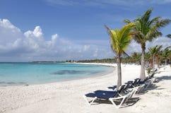 Spiaggia del Messico del Maya del Riviera fotografie stock libere da diritti